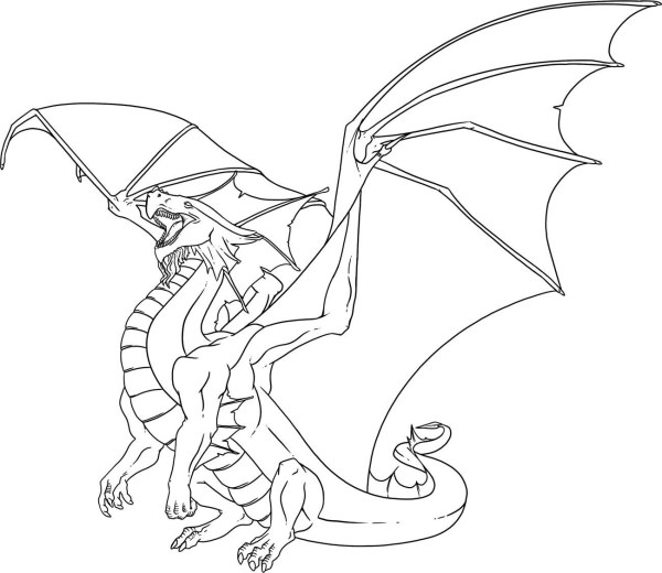 coloring pages dragon # 4