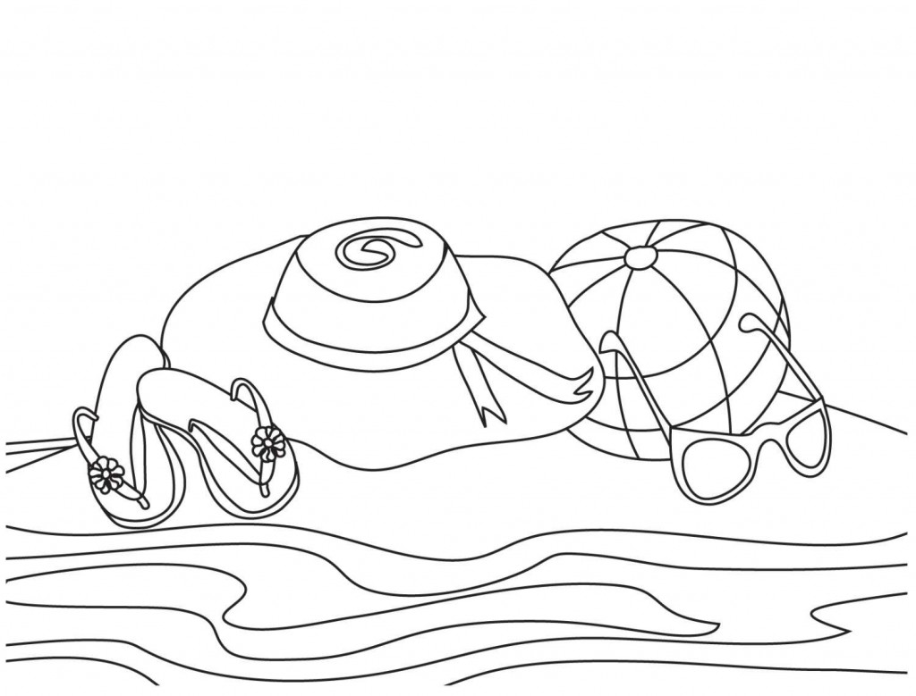 Free Printable Beach Coloring Pages For Kids