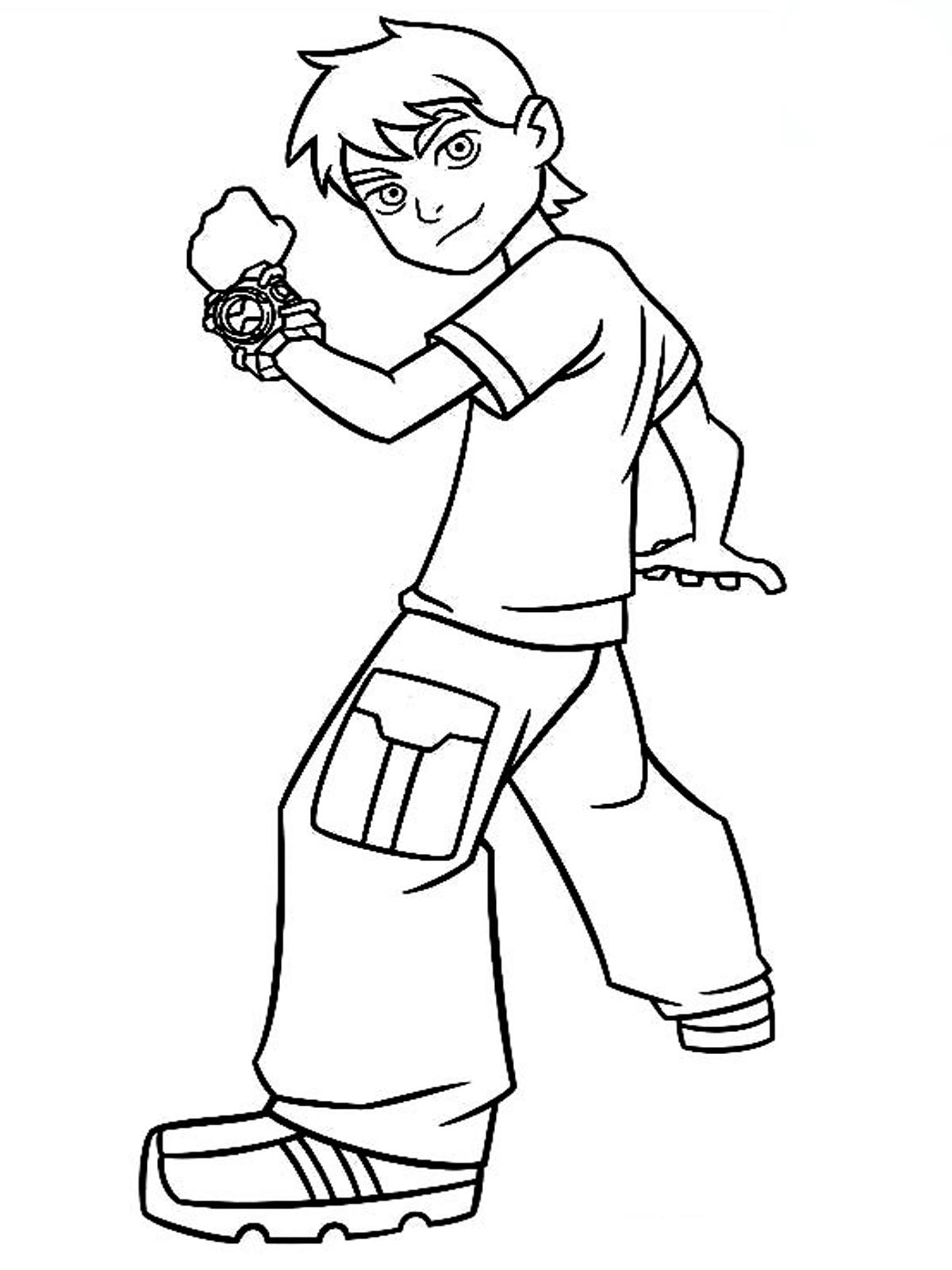 Cartoon Work Coloring Pages Ben 10 Coloring Page