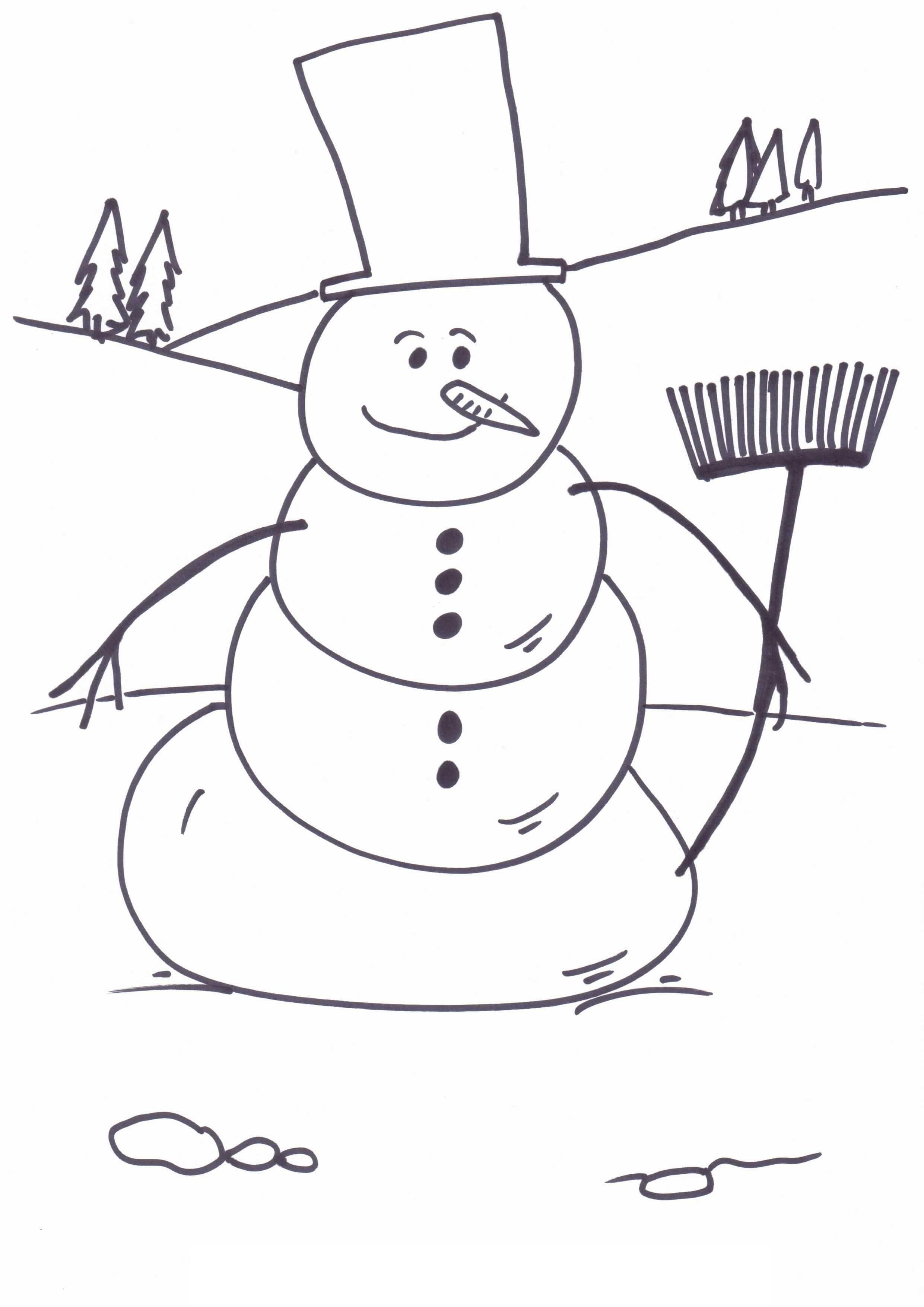 Decisive Printable Snowman