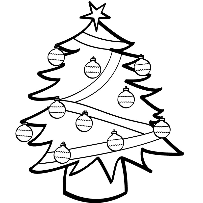 Free Printable Christmas Tree Coloring Pages For Kids | christmas coloring pages  free