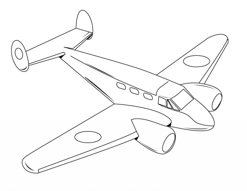 Jet Airplane Drawings