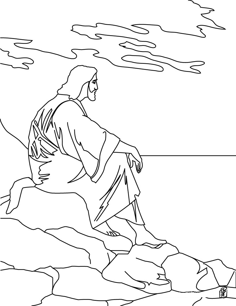 santa and jesus coloring pages