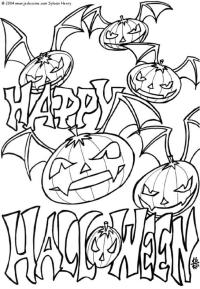 halloween themed coloring pages