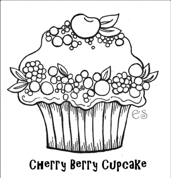cupcakes coloring pages # 53