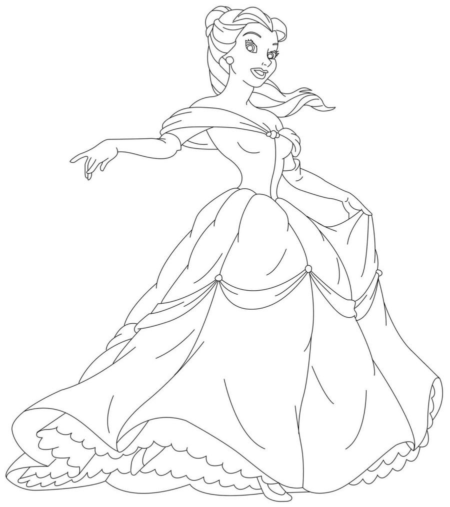 Disney Princesses Coloring Pages - Kidsuki
