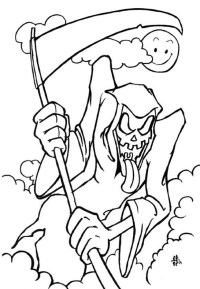 free scary coloring pages for halloween