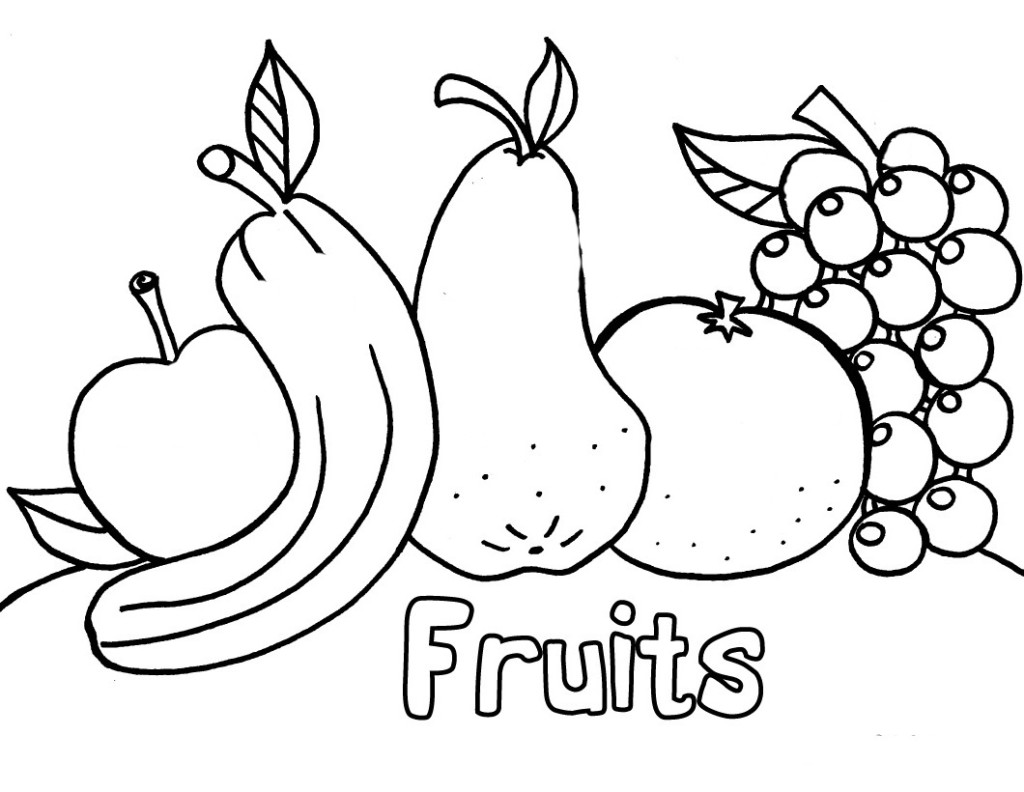 Free Printable Fruit Coloring Pages For Kids | fruits coloring pages for kindergarten