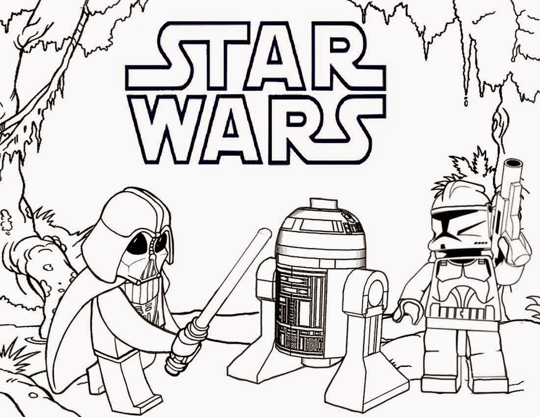 Star Wars Colouring Pages Lego Coloring Page