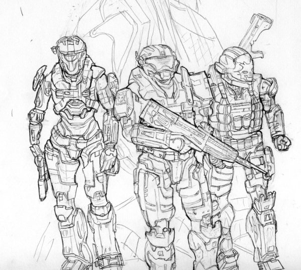 coloring pages halo # 19