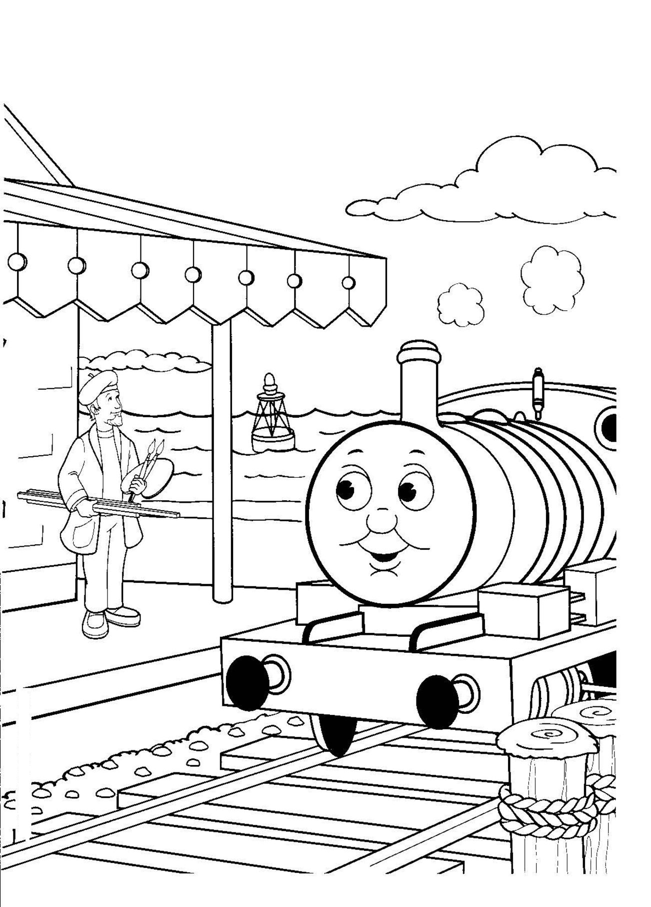 Train Printable Coloring Pages Coloring Pages