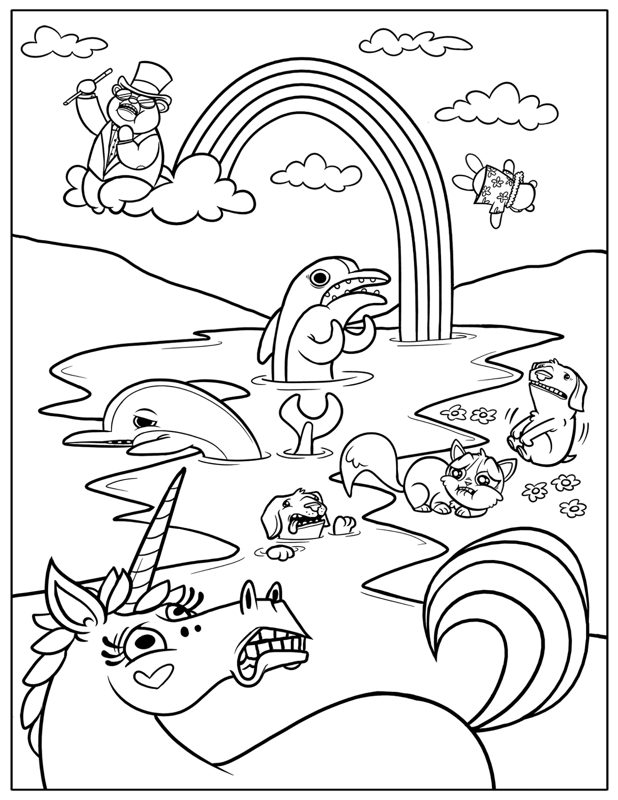 Free Printable Rainbow Coloring Pages For Kids | printable coloring book for kids.