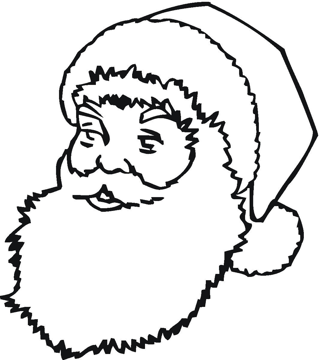 Clip Art Santa Claus Workshop Stencils