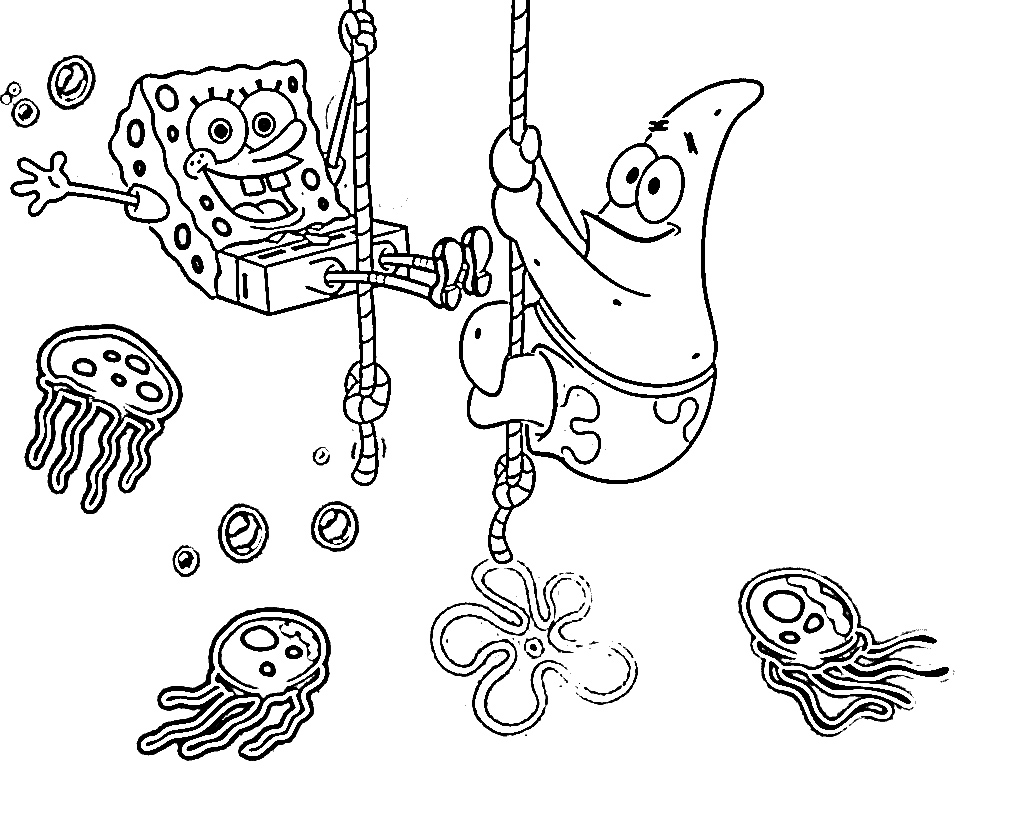 Free Printable Spongebob Squarepants Coloring Pages For Kids