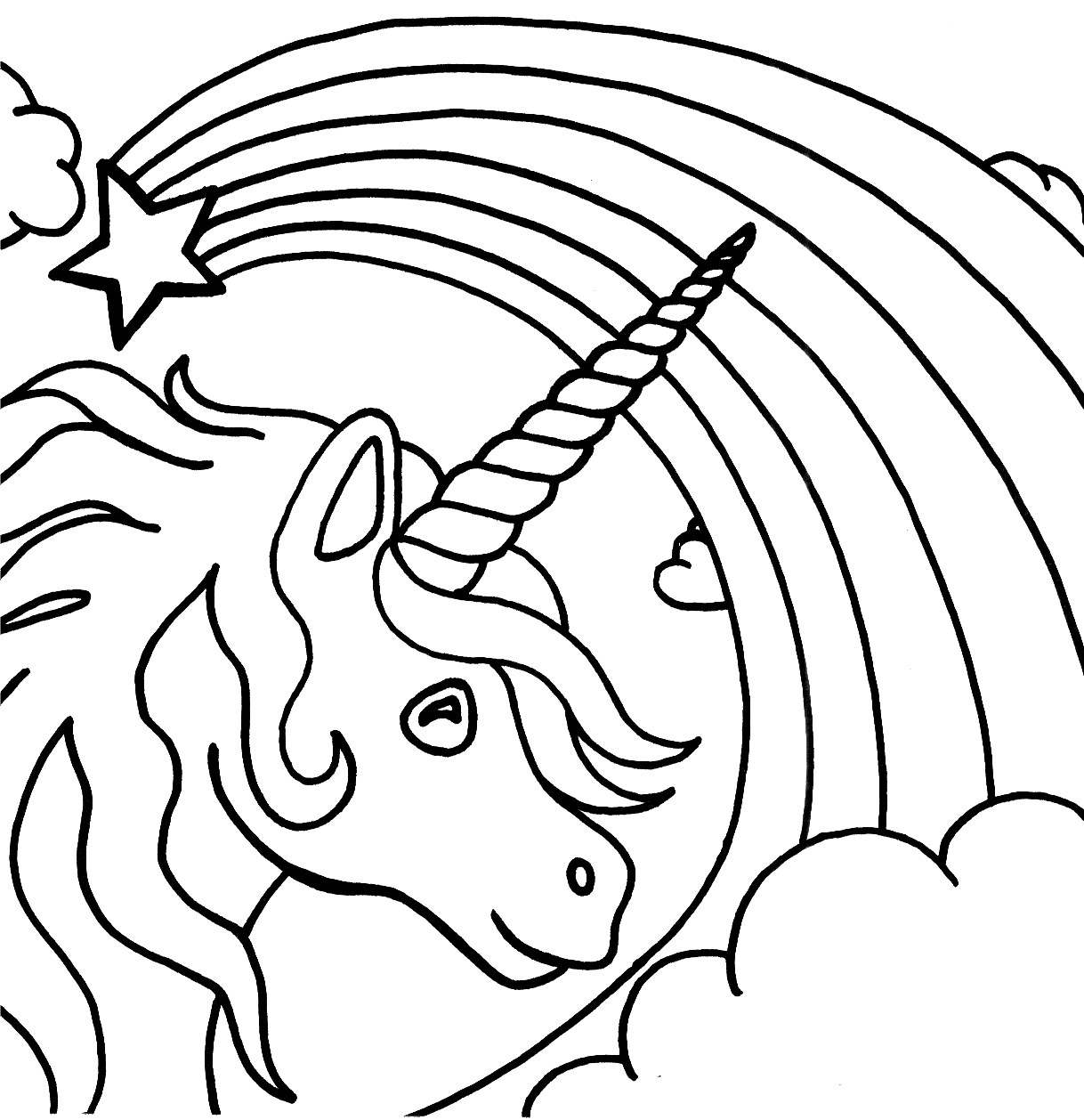 Free Printable Unicorn Coloring Pages For Kids
