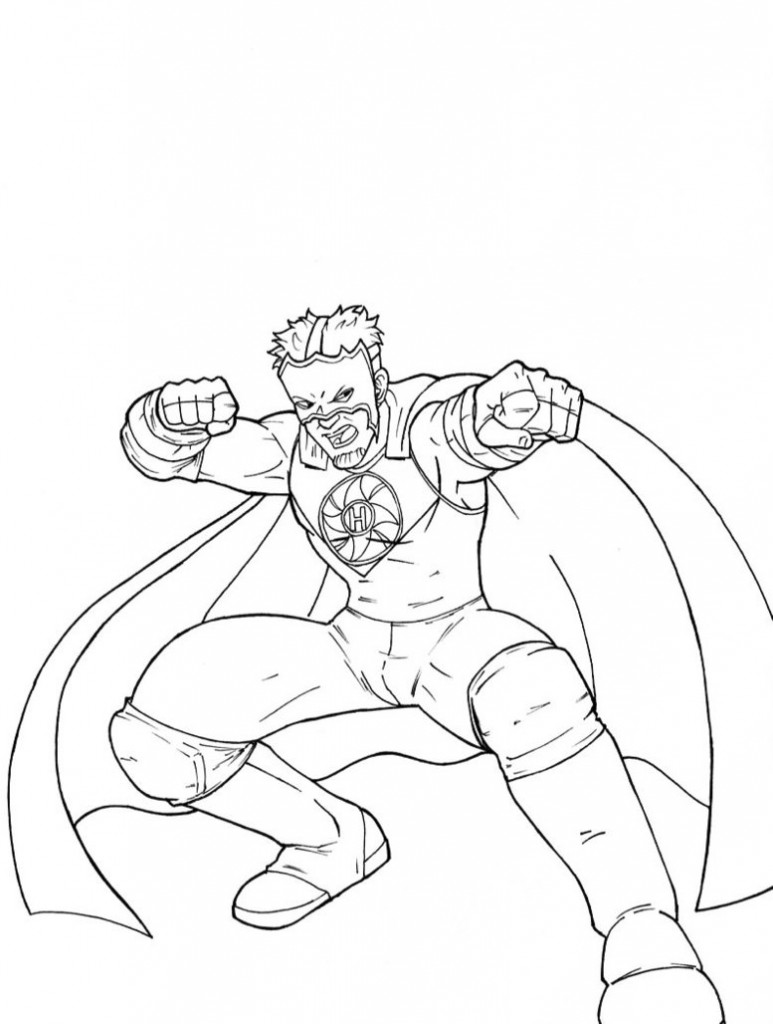 Stardust Wwe Coloring Pages