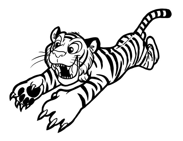 coloring pages of tigers # 46