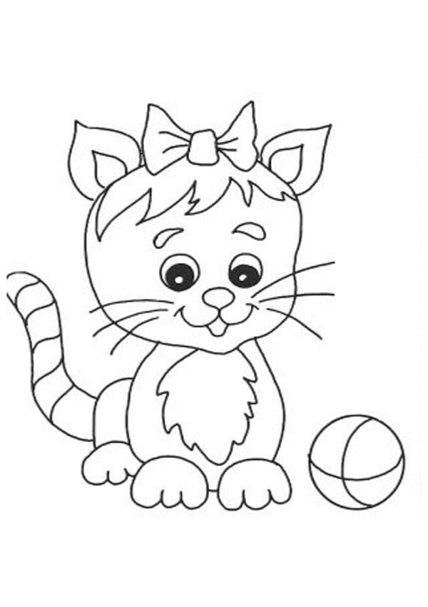 free cat coloring pages # 9