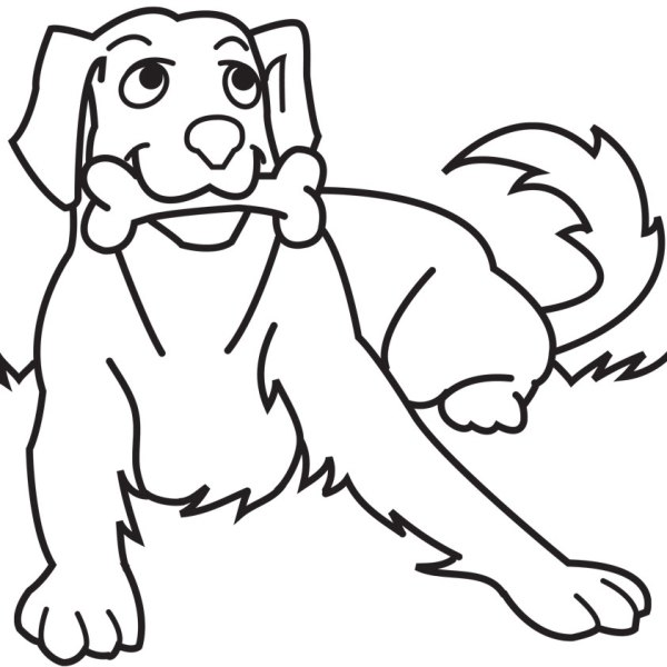 free dog coloring pages # 9
