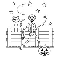 free printable halloween skeleton coloring pages