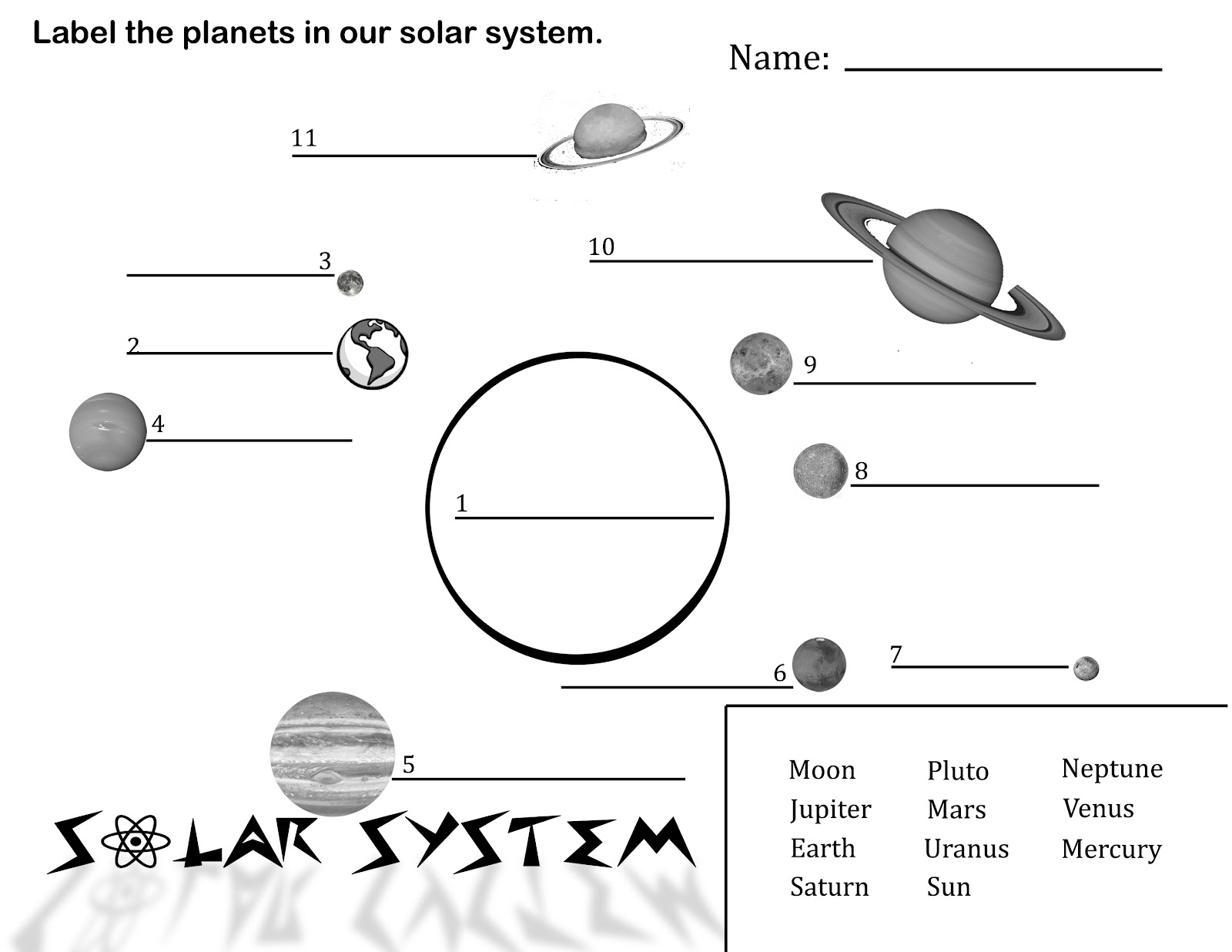 Free Printable Solar System Coloring Pages For Kids