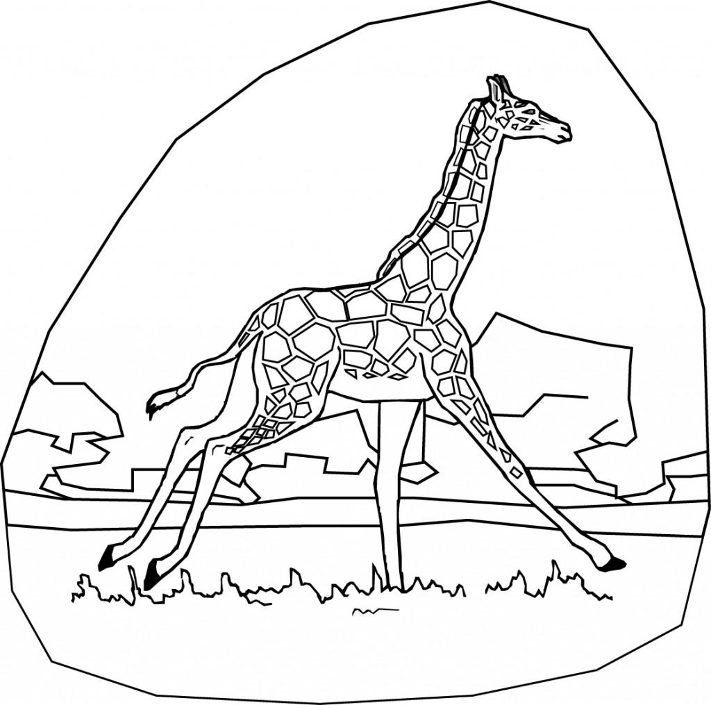 The Best Giraff Coloring Pages