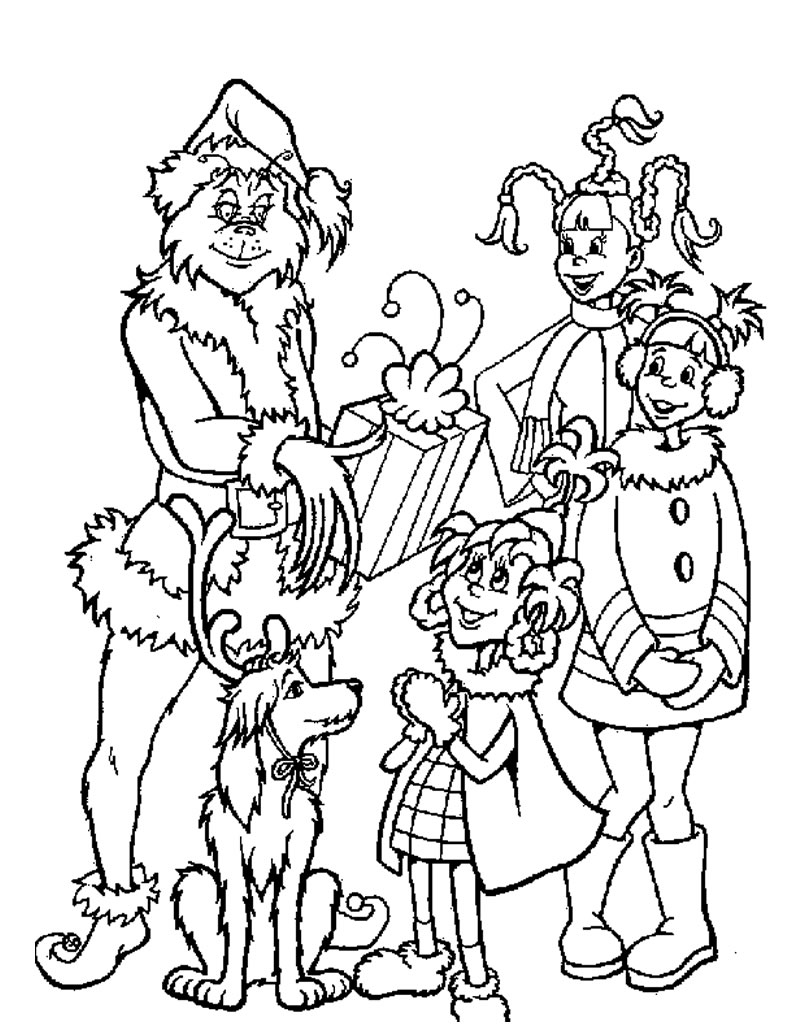 Grinch Coloring Pages Free Printable Grinch