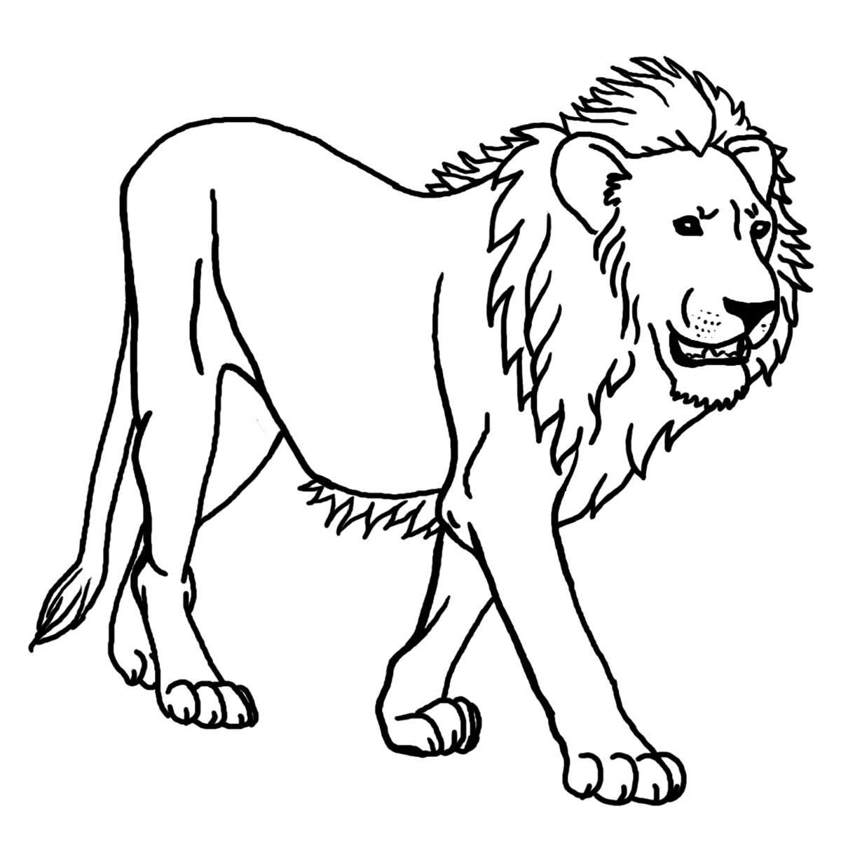 Lion Coloring Sheets