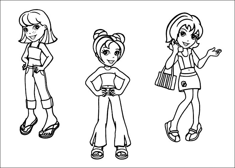 Free Printable Polly Pocket Coloring Pages For Kids