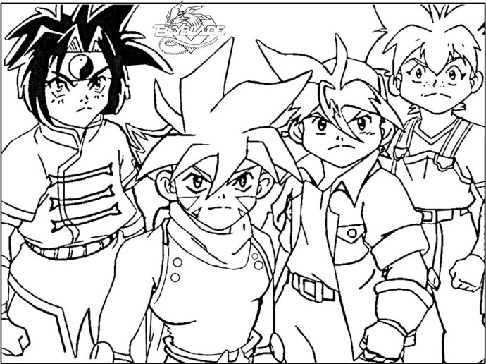 Printable Beyblade Coloring Pages