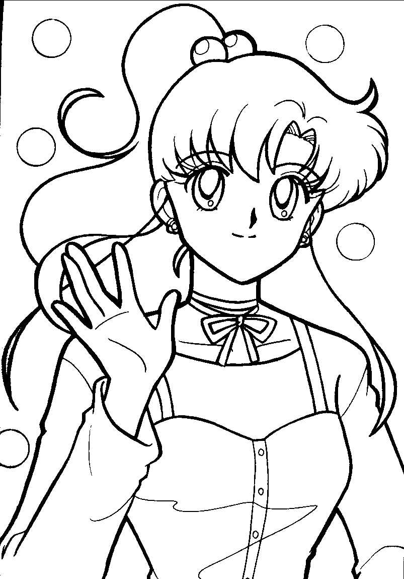Free Printable Sailor Moon Coloring Pages For Kids | printable coloring book for kids.