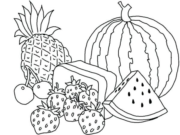 fruit coloring page # 4