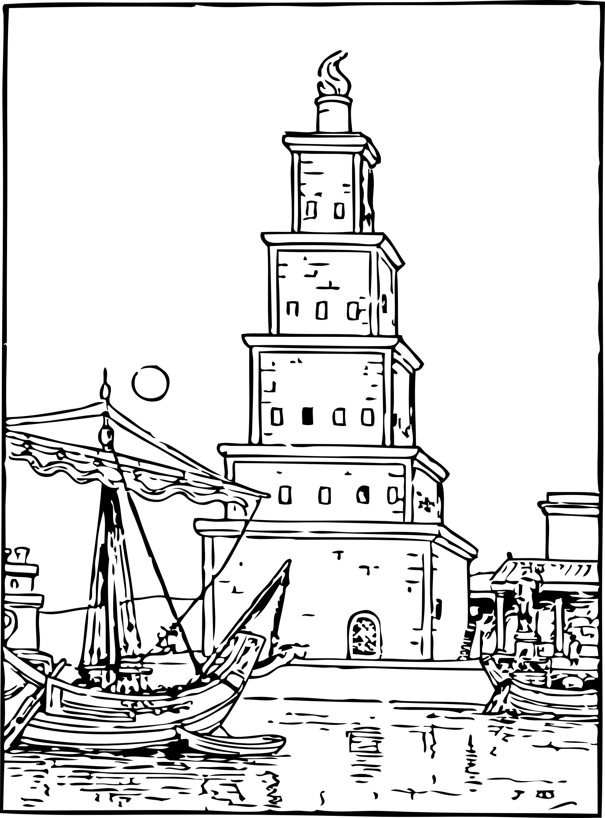 Free Printable Lighthouse Coloring Pages For Kids