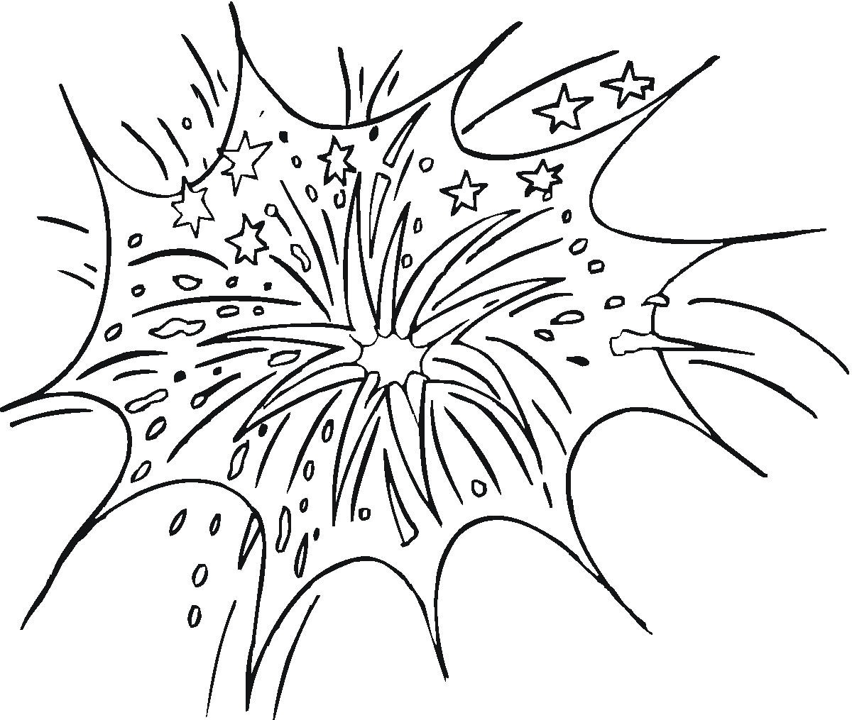 Wonderful Free Printable Fireworks Coloring Pages For Kids