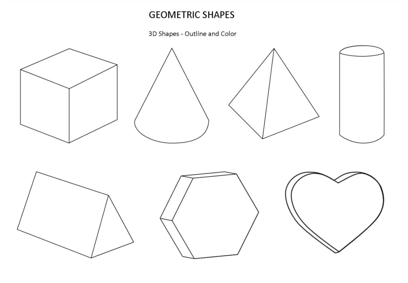 Rhombus Kindergarten Worksheet