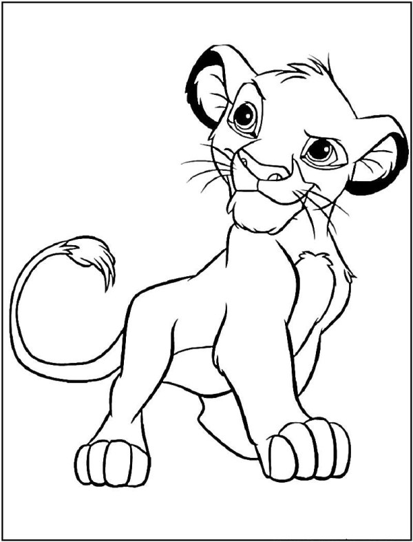 simba coloring page # 5