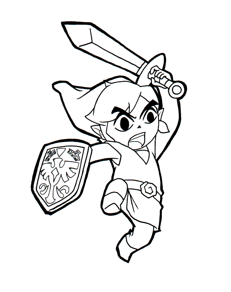 Free Printable Zelda Coloring Pages For Kids