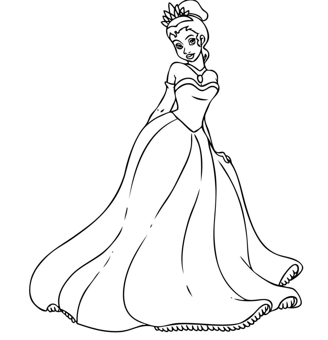 Free Printable Princess Tiana Coloring Pages For Kids   princess tiana printable coloring pages