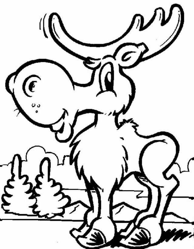 Free Printable Moose Coloring Pages For Kids