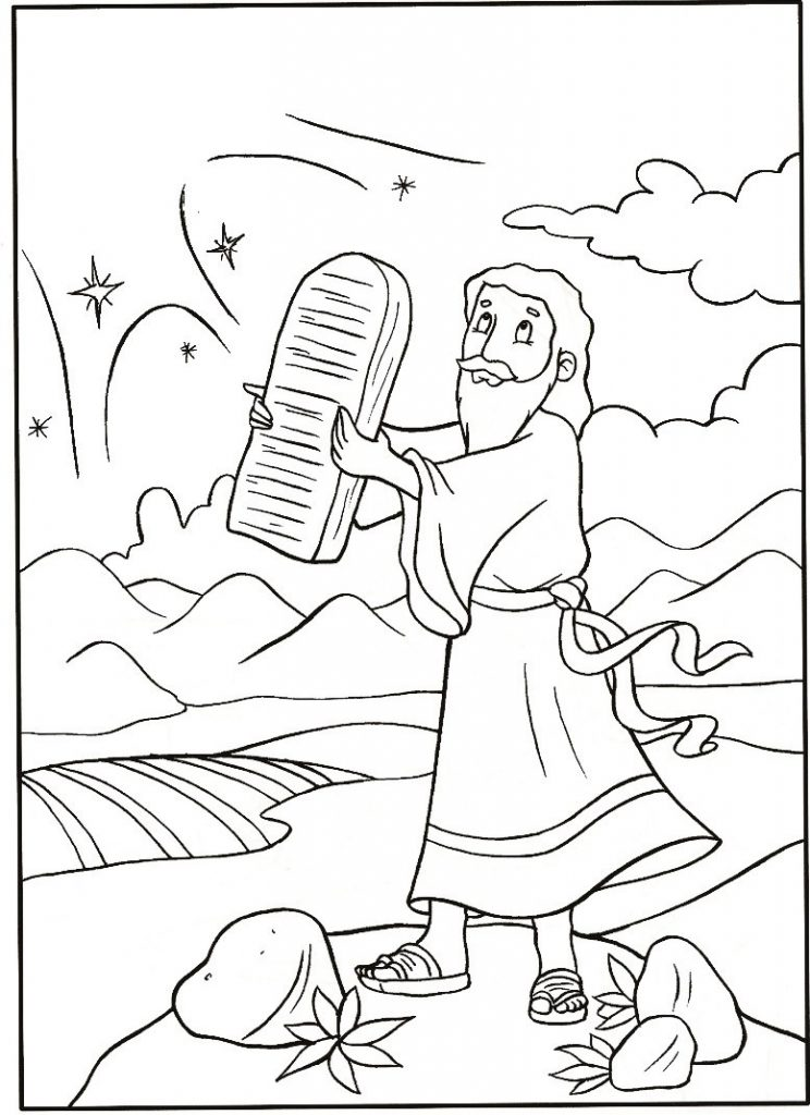 Free Printable Moses Coloring Pages For Kids | coloring pages for preschoolers