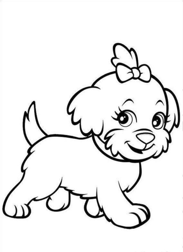printable puppy coloring pages # 4