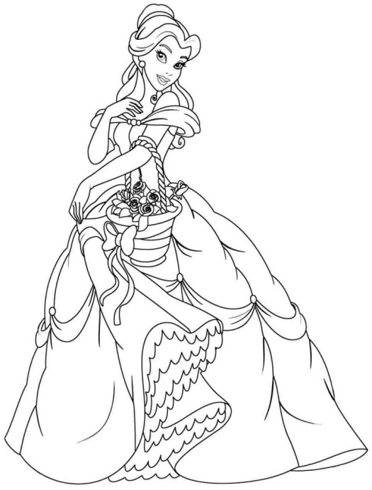 disney princess coloring pages belle coloring page cartoon