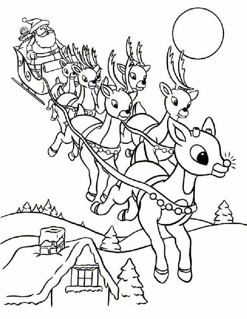 Free Printable Rudolph Coloring Pages For Kids | christmas coloring pages  booklet