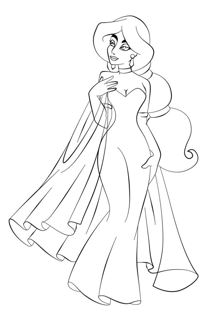 Free Printable Jasmine Coloring Pages For Kids - Best ... | colouring pages online printable