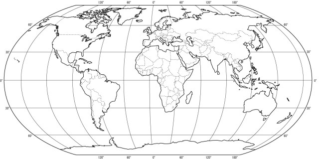 Free Printable World Map Coloring Pages For Kids - Best Coloring