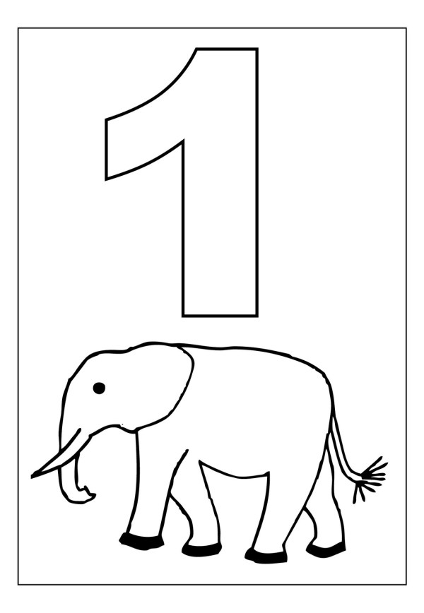 number 4 coloring page # 17