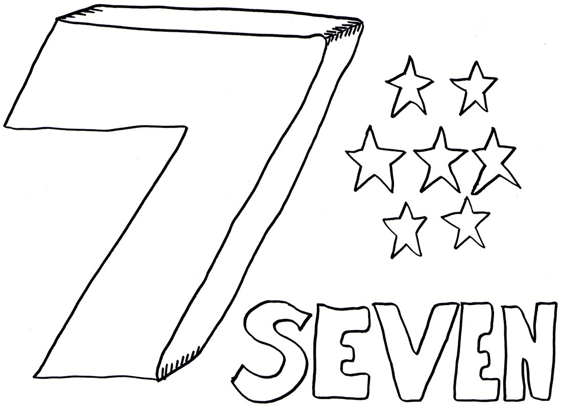 Free Number 7 Coloring Pages