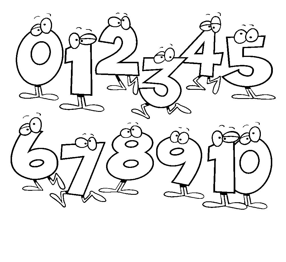 Free Printable Number Coloring Pages For Kids | number coloring pages for toddlers