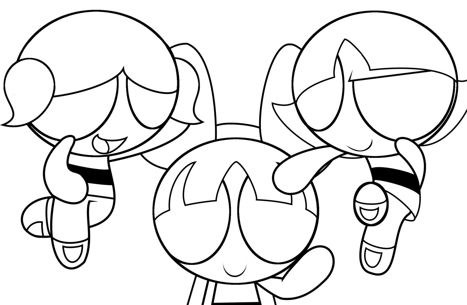 Powerpuff Girl Coloring Pages Print