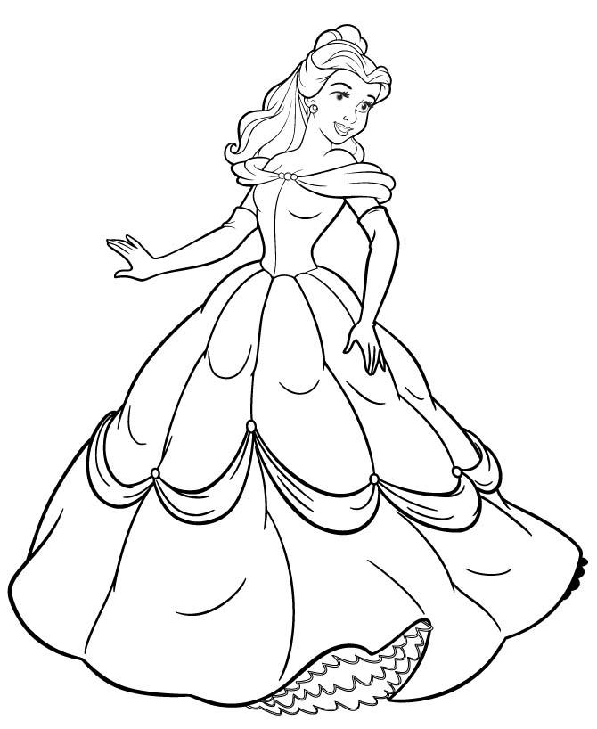 Black And White Disney Princesses Coloring Sheets